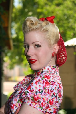 Pin up hairstyles for short hair