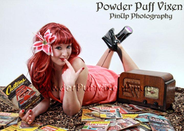 Powder Puff Vixen Pin Up Photography