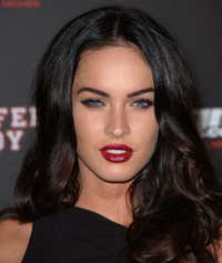 Megan Fox Red Lips, pin up make up