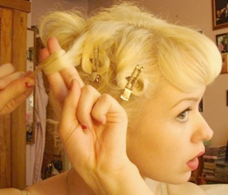 Pin curls