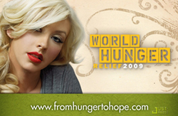 Christina Aguilera World Hunger Relief