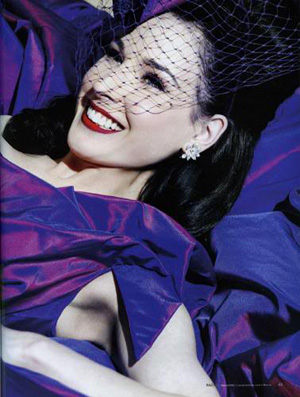 dita von teese wedding