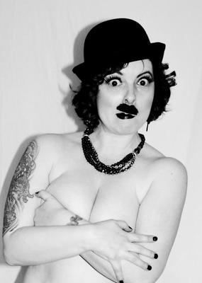 Lily as Gal Chaplin for an upcoming charity show